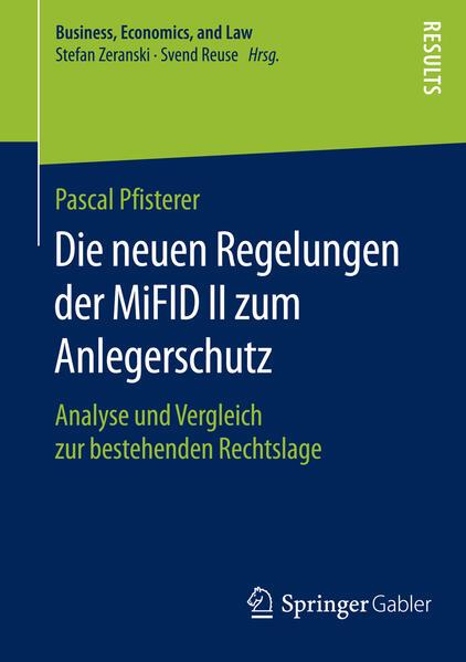 Die neuen Regelungen der MiFID II zum Anlegerschutz - Coverbild