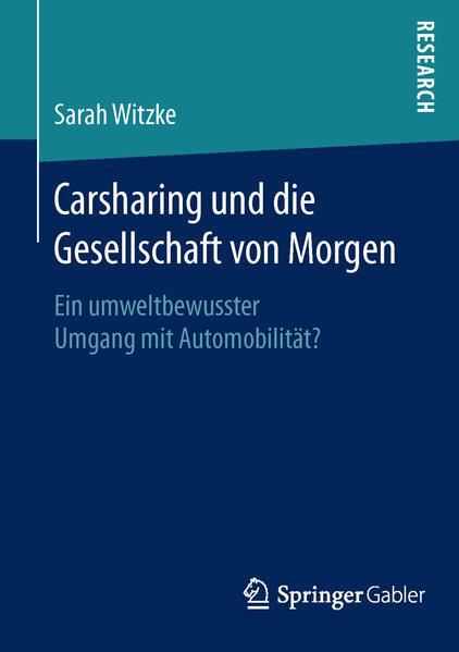 Carsharing und die Gesellschaft von Morgen - Coverbild