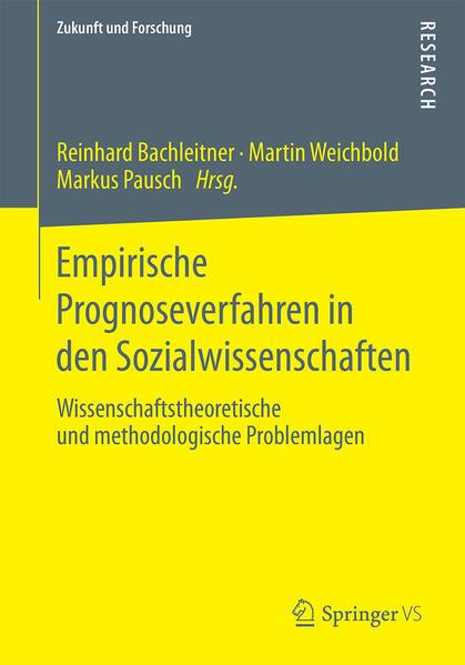 Empirische Prognoseverfahren in den Sozialwissenschaften - Coverbild