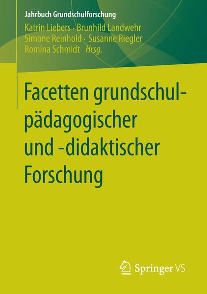 Facetten grundschulpädagogischer und -didaktischer Forschung - Coverbild