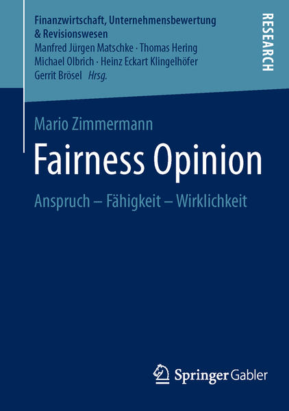 Fairness Opinion - Coverbild
