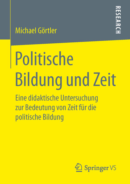 Politische Bildung und Zeit - Coverbild