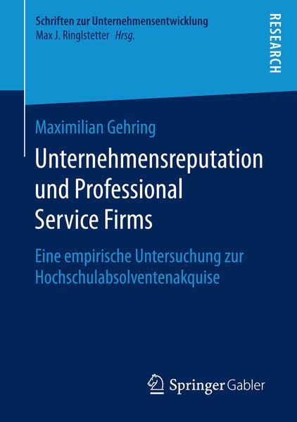 Unternehmensreputation und Professional Service Firms - Coverbild