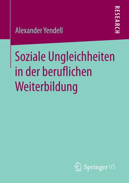 Soziale Ungleichheiten in der beruflichen Weiterbildung - Coverbild