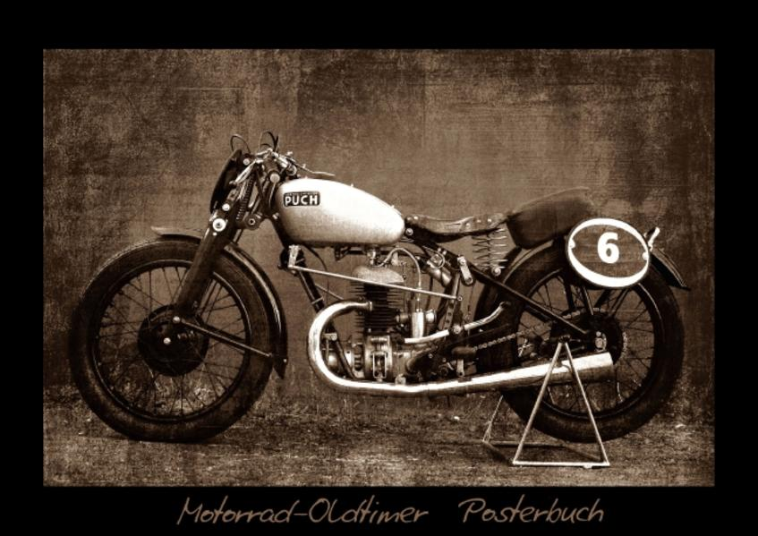 Motorrad Oldtimer Posterbuch (Posterbuch DIN A3 quer) - Coverbild
