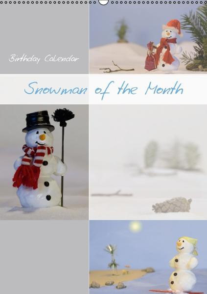 Birthday Calendar Snowman of the Month (Wall Calendar perpetual DIN A2 Portrait) - Coverbild