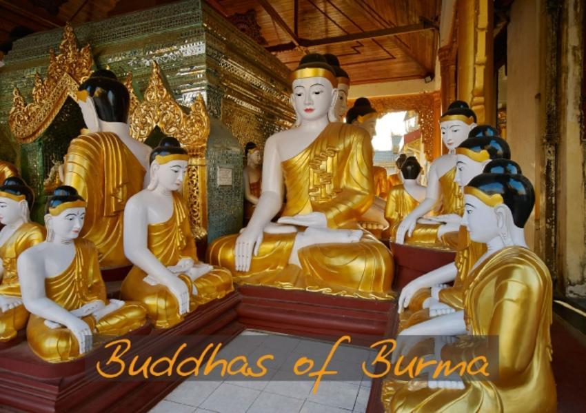 Buddhas of Burma / UK-Version (Stand-Up Mini Poster  DIN A5 Landscape) - Coverbild