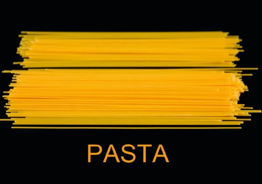Pasta / UK-Version (Stand-Up Mini Poster  DIN A5 Landscape) - Coverbild