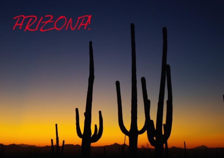 Arizona! / UK-Version (Stand-Up Mini Poster  DIN A5 Landscape) - Coverbild