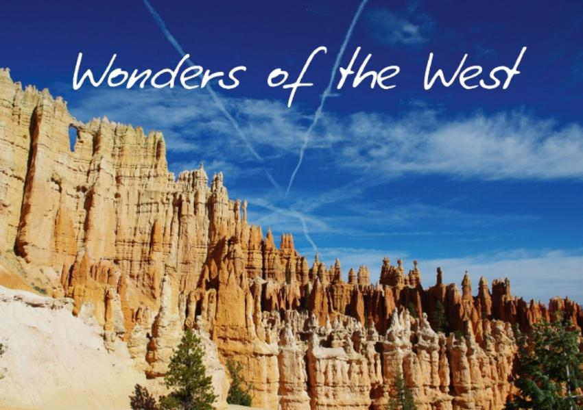 Wonders of the West / UK-Version (Stand-Up Mini Poster  DIN A5 Landscape) - Coverbild