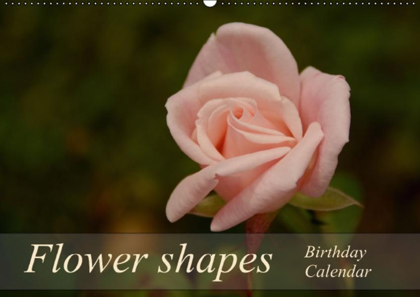 Flower shapes / Birthday Calendar / UK-Version (Wall Calendar perpetual DIN A2 Landscape) - Coverbild
