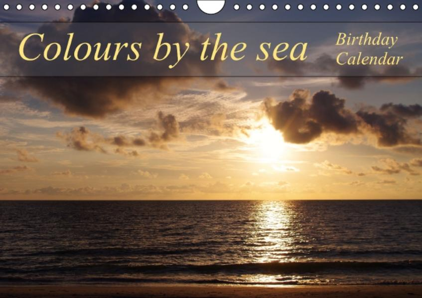 Colours by the sea / Birthday Calendar / UK-Version (Wall Calendar perpetual DIN A4 Landscape) - Coverbild