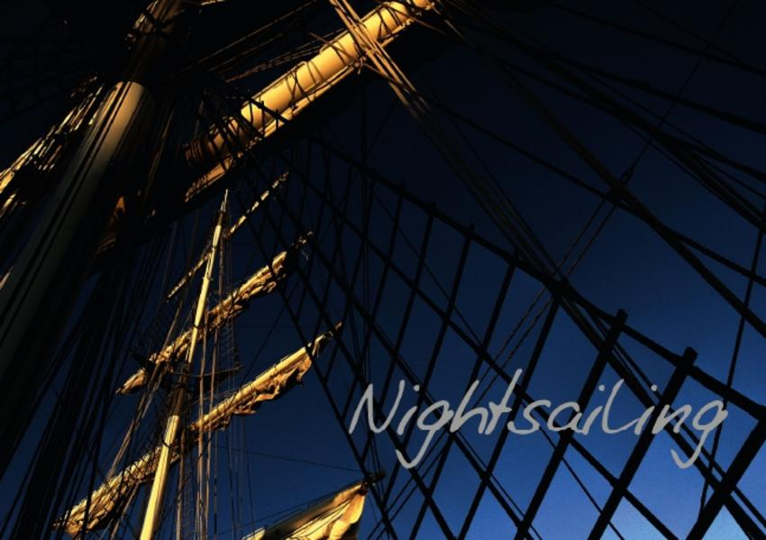 Nightsailing / UK-Version (Stand-Up Mini Poster  DIN A5 Landscape) - Coverbild