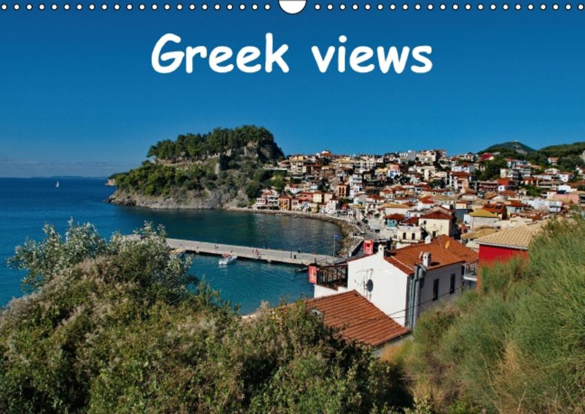 Greek views / UK-version (Wall Calendar perpetual DIN A3 Landscape) - Coverbild