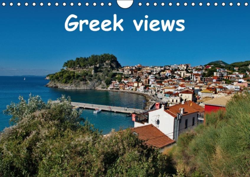 Greek views / UK-version (Wall Calendar perpetual DIN A4 Landscape) - Coverbild
