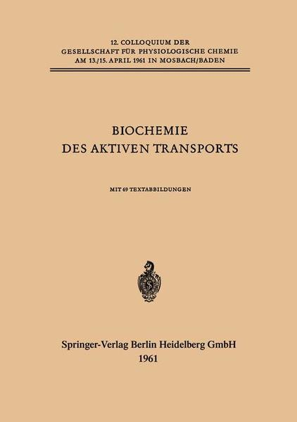 Biochemie des Aktiven Transports - Coverbild