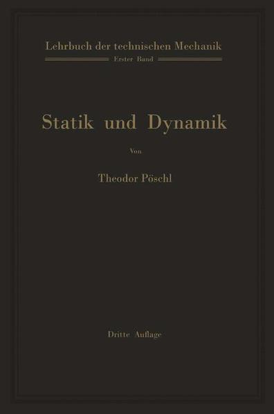 Lehrbuch der technischen Mechanik für Ingenieure und Physiker - Coverbild