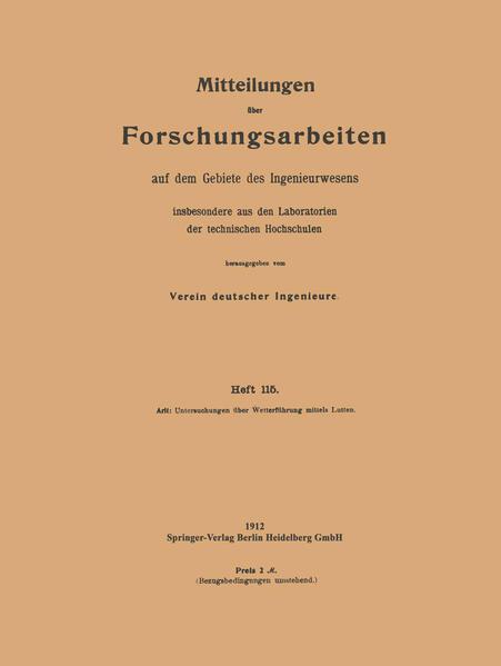 Mitteilungen über Forschungsarbeiten - Coverbild