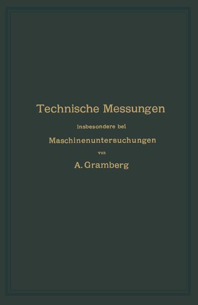 Technische Messungen insbesondere bei Maschinenuntersuchungen - Coverbild