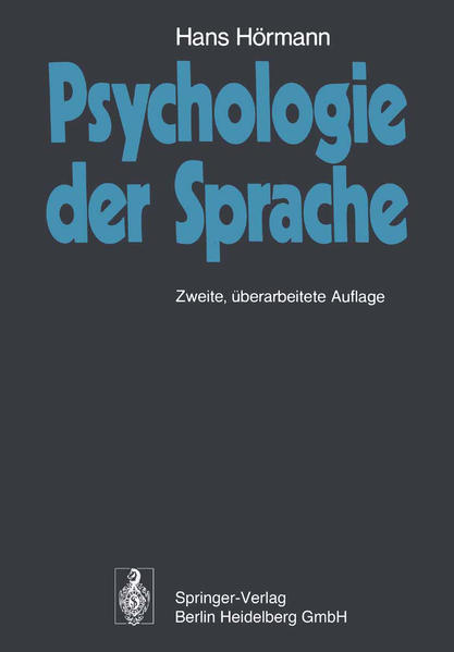 Psychologie der Sprache - Coverbild