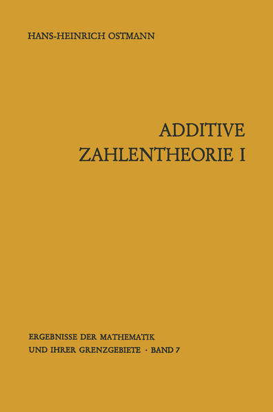 Additive Zahlentheorie - Coverbild