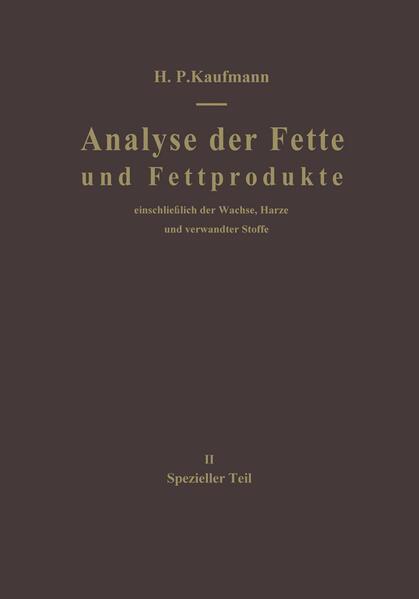 Analyse der Fette und Fettprodukte - Coverbild