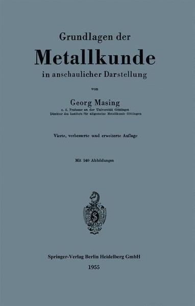Grundlagen der Metallkunde in anschaulicher Darstellung - Coverbild