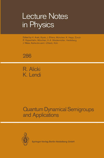 Quantum Dynamical Semigroups and Applications - Coverbild