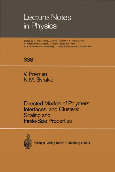 Directed Models of Polymers, Interfaces, and Clusters: Scaling and Finite-Size Properties - Coverbild