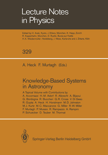 Knowledge-Based Systems in Astronomy - Coverbild