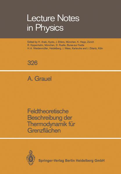 Feldtheoretische Beschreibung der Thermodynamik für Grenzflächen - Coverbild