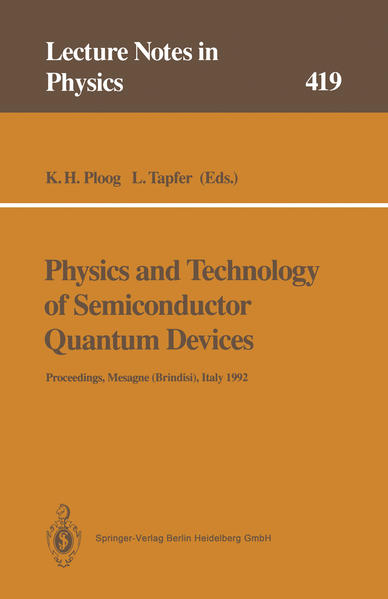 Physics and Technology of Semiconductor Quantum Devices - Coverbild