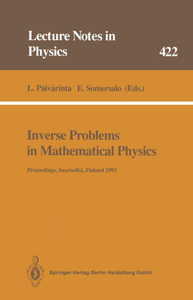 Inverse Problems in Mathematical Physics - Coverbild