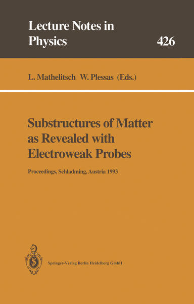 Substructures of Matter as Revealed with Electroweak Probes - Coverbild