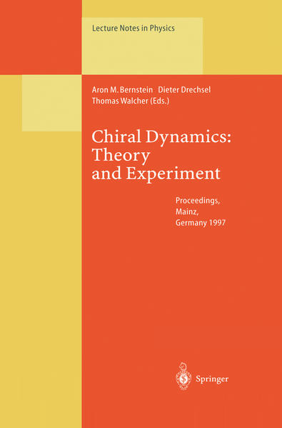 Chiral Dynamics: Theory and Experiment - Coverbild