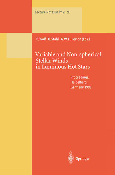 Variable and Non-spherical Stellar Winds in Luminous Hot Stars - Coverbild