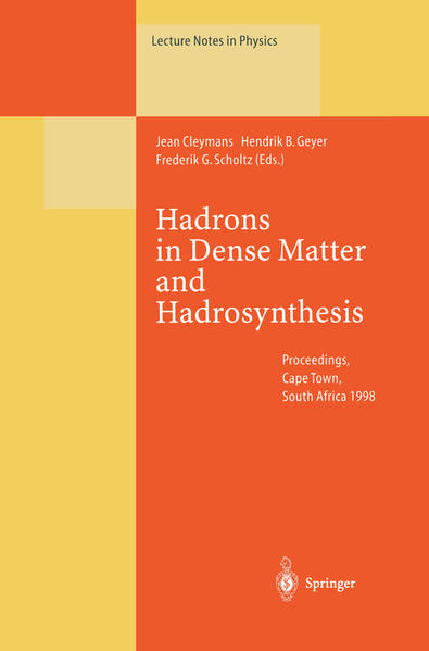 Hadrons in Dense Matter and Hadrosynthesis - Coverbild