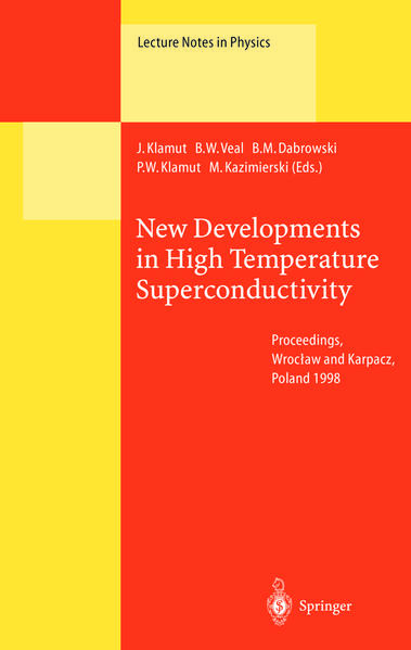 New Developments in High Temperature Superconductivity - Coverbild