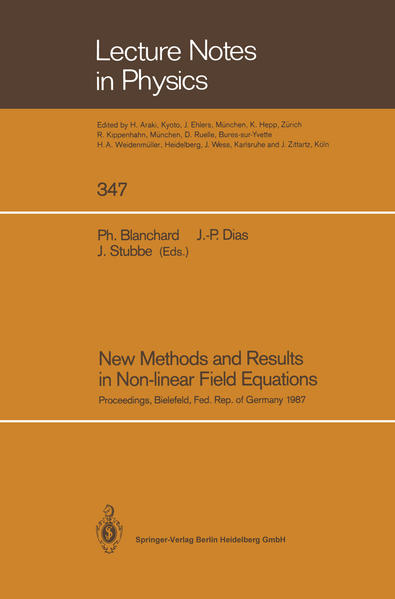 New Methods and Results in Non-linear Field Equations - Coverbild