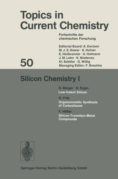Silicon Chemistry I - Coverbild