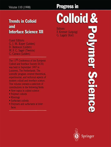 Trends in Colloid and Interface Science XII - Coverbild
