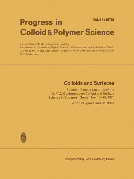 Colloids and Surfaces - Coverbild