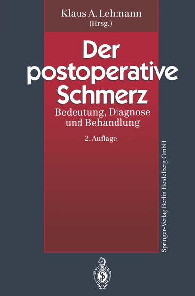 Der postoperative Schmerz - Coverbild