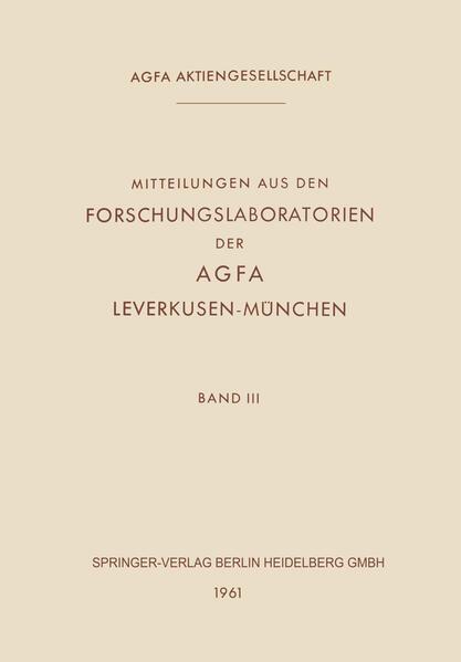 Mitteilungen aus den Forschungslaboratorien der Agfa Leverkusen-München - Coverbild