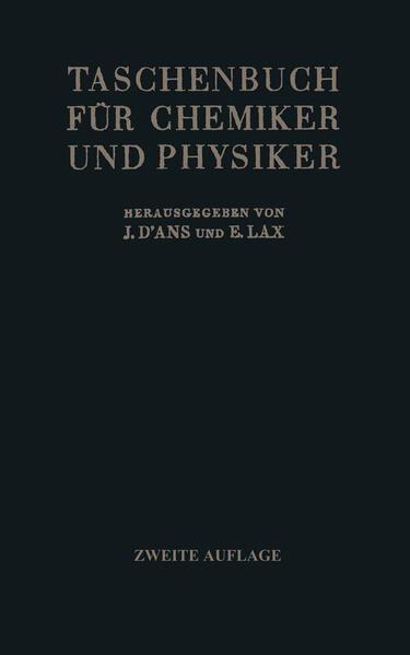 Taschenbuch für Chemiker und Physiker - Coverbild