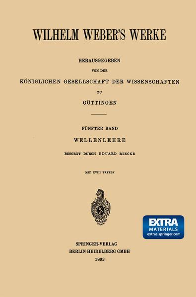 Wilhelm Weber's Werke - Coverbild