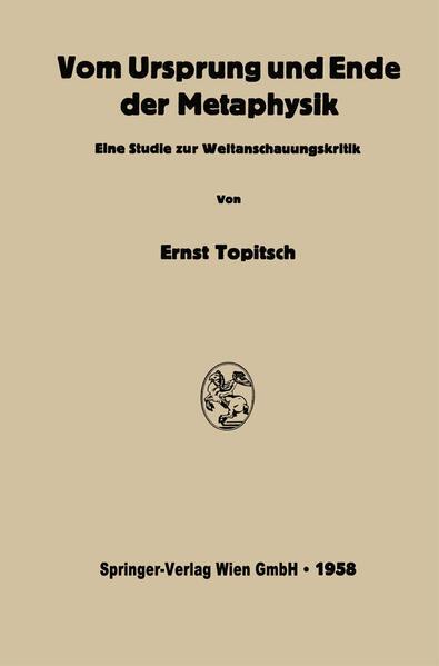 Vom Ursprung und Ende der Metaphysik - Coverbild