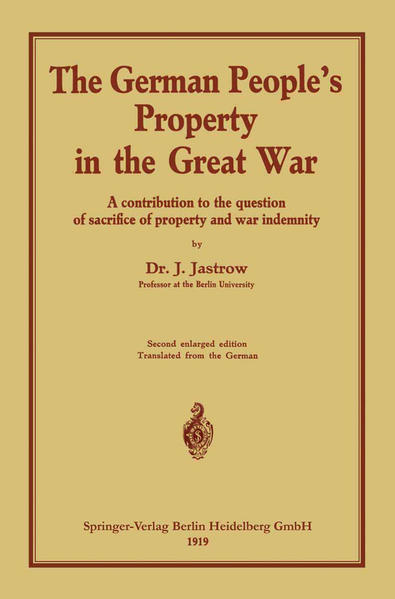 The German people's Property in the great war - Coverbild