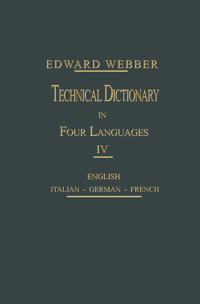 Technical Dictionary - Coverbild
