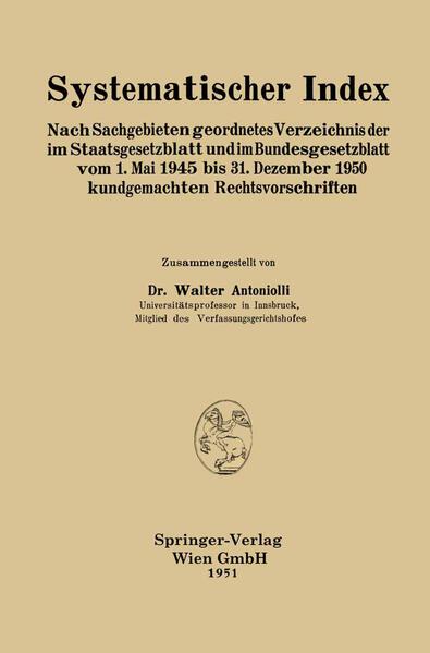Systematischer Index - Coverbild